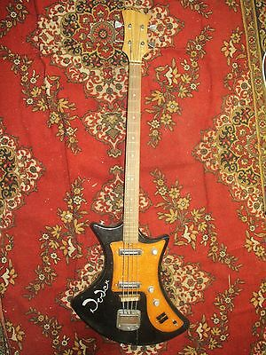 RODEN Electric Bass Guitar Moscow USSR Rare VINTAGE 70s Ural