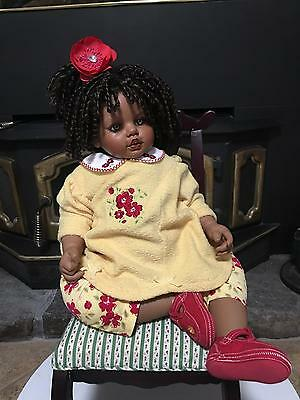 Fayzah Spanos ARTIST SIGNED VINYL LE 300 LIMITED EDITION African American Doll