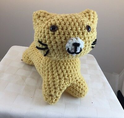American Made Stuffed Toy Animal Kitty Cat Kitten - Handmade For Ages 3+
