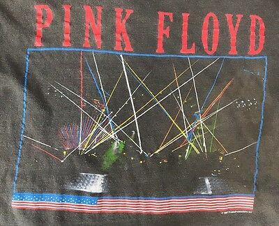 Vintage 1987 Pink Floyd World Tour Concert Tee T Shirt Roger Waters 80s