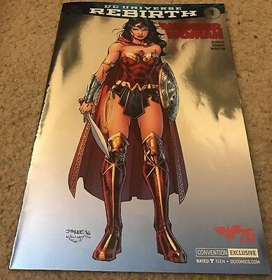 DC Rebirth Wonder Woman #1 SDCC/NYCC Jim Lee Foil Cover Variant 2016 Variant