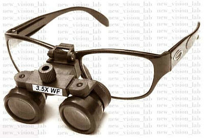 DENTAL/MEDICAL/SURGICAL/OPTICAL Binocular Loupe 3.5x in Case Free Shipping WW