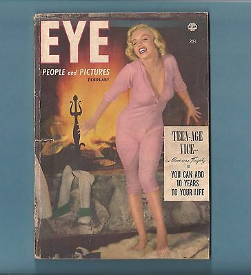 MARILYN MONROE in pink pajamas suit on Cover of EYE 1953 Magazine !