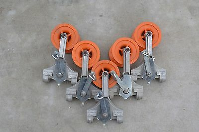 Lot of 10  Used Lemco PY-750P, light weight - Two-Way Cable Block for Lasher