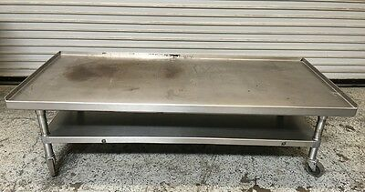 """67""""x30"""" Equipment Stand on Wheels All Stainless Steel GSW #6536 Commercial NSF"""