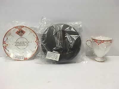 Avon 1997 Honor Society Commemorative Bone China Teacup & Saucer With Wood Base
