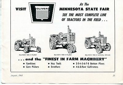 1963 Dealer Print Ad of Oliver 1600 1800 & 1900 Farm Tractor