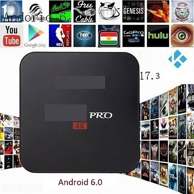 PRO 4K Android 6.0 TV BOX S905X 17.3 Krypton