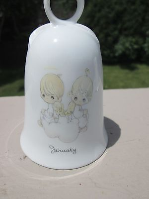 Adorable Vintage PRECIOUS MOMENTS 1987 January Bell, Used