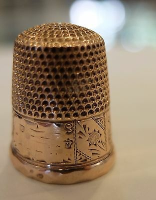 Antique 14K Rose Gold 4.6 Grams Size 9 Engraved Tower Country Scene H.Muhr Sons