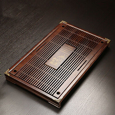 Solid Wood Tea Tray Drainage Water Storage Kung Fu GongFu Tea Table Serving Tray