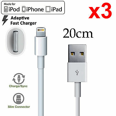 3 Apple iPhone 6 7 8 SE X XS Max XR iPad Pro iPod lightning data charger cable