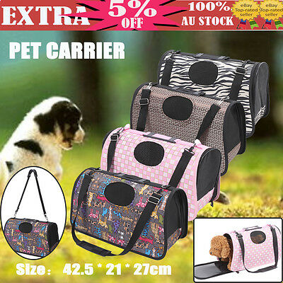 Portable Pet Dog Cat Carrier bag Soft Case Crate Travel Carry Cage M For 1-3kg