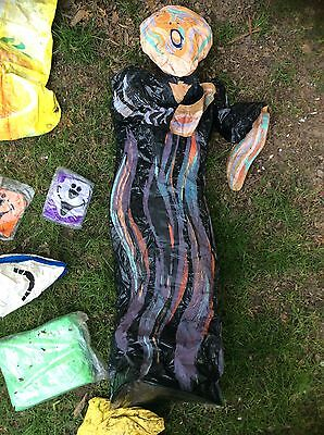 Lot Of Inflatable Blow Ups Including The Scream, Sponge Bob, Dinosaur & Monkey
