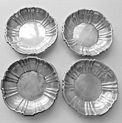 4 POOLE Old English  Sterling Silver NUT DISHES
