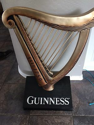 Rare GUINNESS Harp Display - 30in Tall