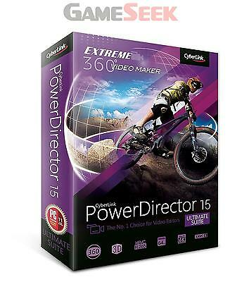 Powerdirector 15 Ultimate Suite | Free Delivery Brand New