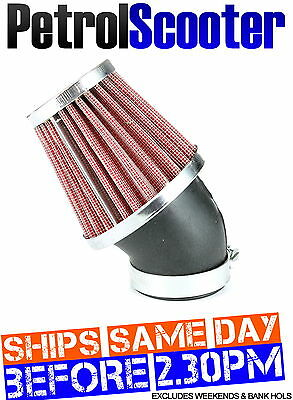 Pit Dirt Bike Angled K N AIR FILTER RED 45mm 44 42 Carburettor Honda 125cc 140cc