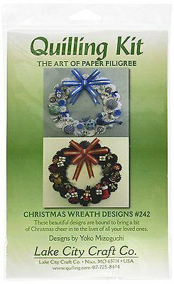 Lake City Craft Paper Quilling Kit christmas Wreaths