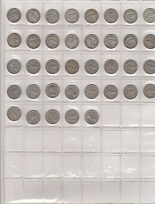 37 X  New Zealand   Sixpence   Coins  1933 To 1965   All Good