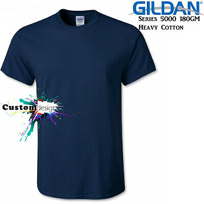 Gildan T-SHIRT Navy Blue blank plain tee S M L XL 2XL XXL big Men's Heavy Cotton