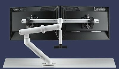 Flo Plus Dual Monitor Arm. Colebrook Bosson Saunders, NEW, Without use.