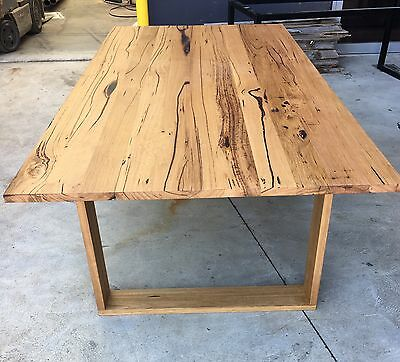 Recycled Messmate Timber Dining Table With Wooden Legs