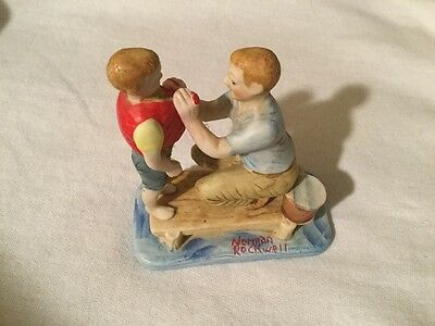 Norman Rockwell Boy with Father Ceramic Figurine