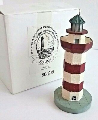 Collectable HILTON HEAD ISLAND LIGHTHOUSE (in SC) Resin Figurine by Scaasis™- 4""