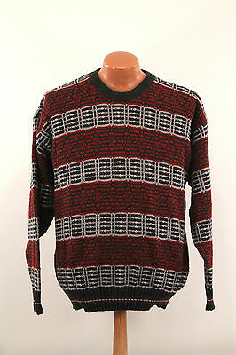 Vintage Jantzen Sweater : Men's Extra Large Slim - 80s USA Made Crew Neck Red