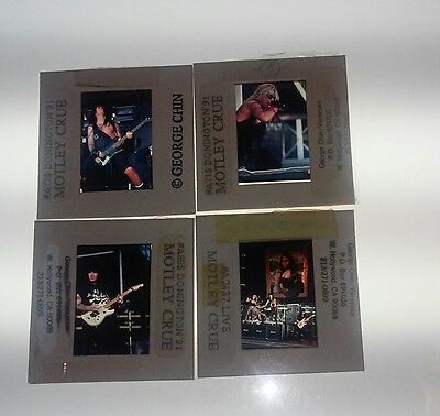 Motley Crue Photo Slides 1990 Dr Feelgood Tour Circus Mag Archive Sixx Mars Neil