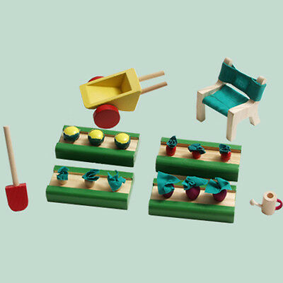 Doll House Furniture Kids Stuff Gardening Set 1/12 Scale Kt02