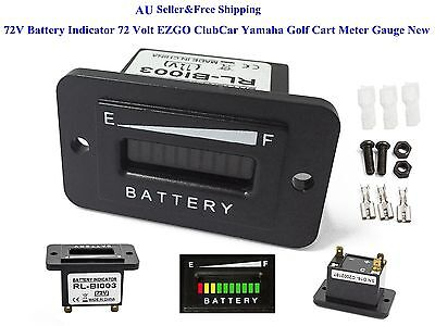 AU 72V Battery Indicator 72 Volt EZGO ClubCar Yamaha Golf Cart Meter Gauge New