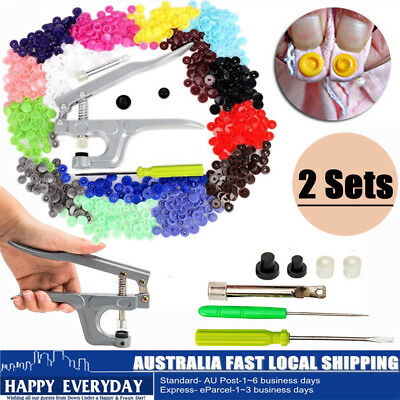 Snap Pliers + 700 Sets T5 Size Snaps Resin Plastic Poppers Fastener Button Tool