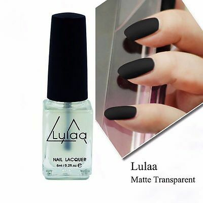 Nail Art Polish Super Matte Transfiguration Frosted Surface Oil Top Coat 6ML