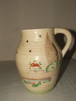 Clarice Cliff Art Deco Handpainted Napoli Lotus Jug Truly Stunning
