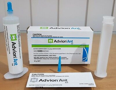 4 X 30g Syngenta Advion Ant Gel Bait All types Home Office Factory Pest Control