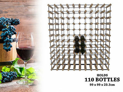 WA Stock 1 wooden wine rack holds 110 bottles natural wood colour