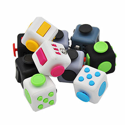 Fidget Cube+Hand Finger Spinner Anxiety Stress Relief Focus Desk Toy Adults Kids