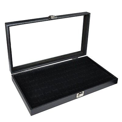 Cufflink Display Cases For Men Jewelry Earring Slot Storage Box Travel Organizer