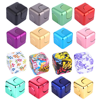 Colorful Metal Square Fidget Hand Spinner Anti Stress Funny EDC Focus Toy