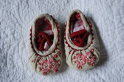 Baby girl Monsoon shoes 3-6 months Uk Size 2 Pink