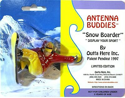 "Antenna Buddies ""Snow Boarder"" Antenna Ball or Cake Topper 1997 Limited Edition"