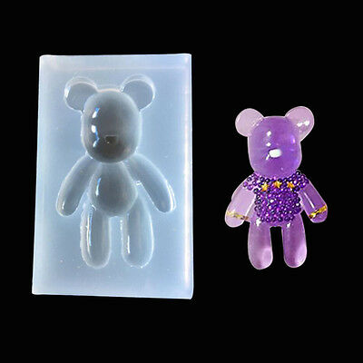 3D Silicone Bear Soap PC Mold Chocolate Candy Cookies Jelly Mould Cake Decor