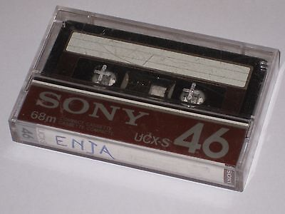 Audiocassetta Sony Ucx-S 46 Chrome Cassetta Audio Vintage