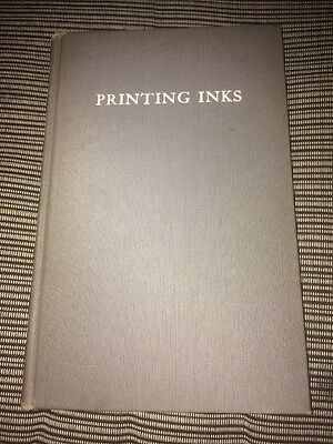Printing Inks Their Composition, Properties And Manufacture Antique Book 1918