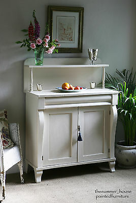 Pretty Shabby Chic Antique Chiffonier Sideboard Dresser Painted in Farrow & Ball