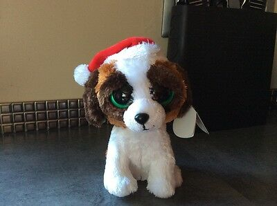 Ty Beanie Boos Collection Soft Plush Christmas Dog