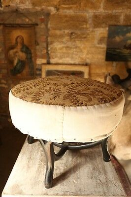 19th century Tapestry covered footstool