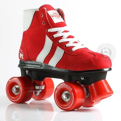 New Rookie Retro Girls Kids Adults Red  Quad Wheels Roller Skates Uk Size 3